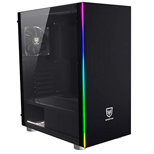 Nfortec Caronte Cristal Templado USB 3.0 RGB Negro