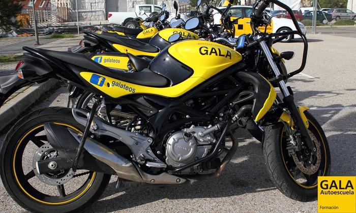 Curso para obtener el carné de moto A1 o A2 con 5 o 7  en 50 centros de Autoescuela Gala