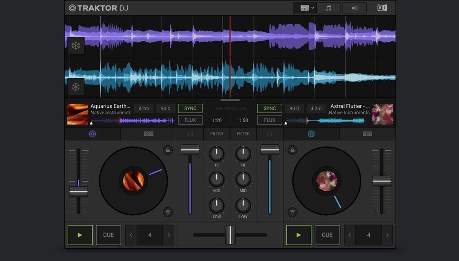 Gratis, TRAKTOR DJ 2, Sumérgete en el DJing (IOS, PC/Mac)