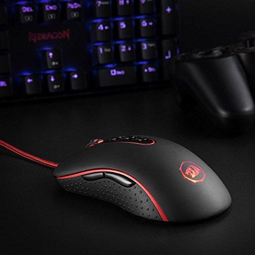 Ratón Gaming Redragon M702 DPI ajustable hasta 4000 DPI - 9 botones programables