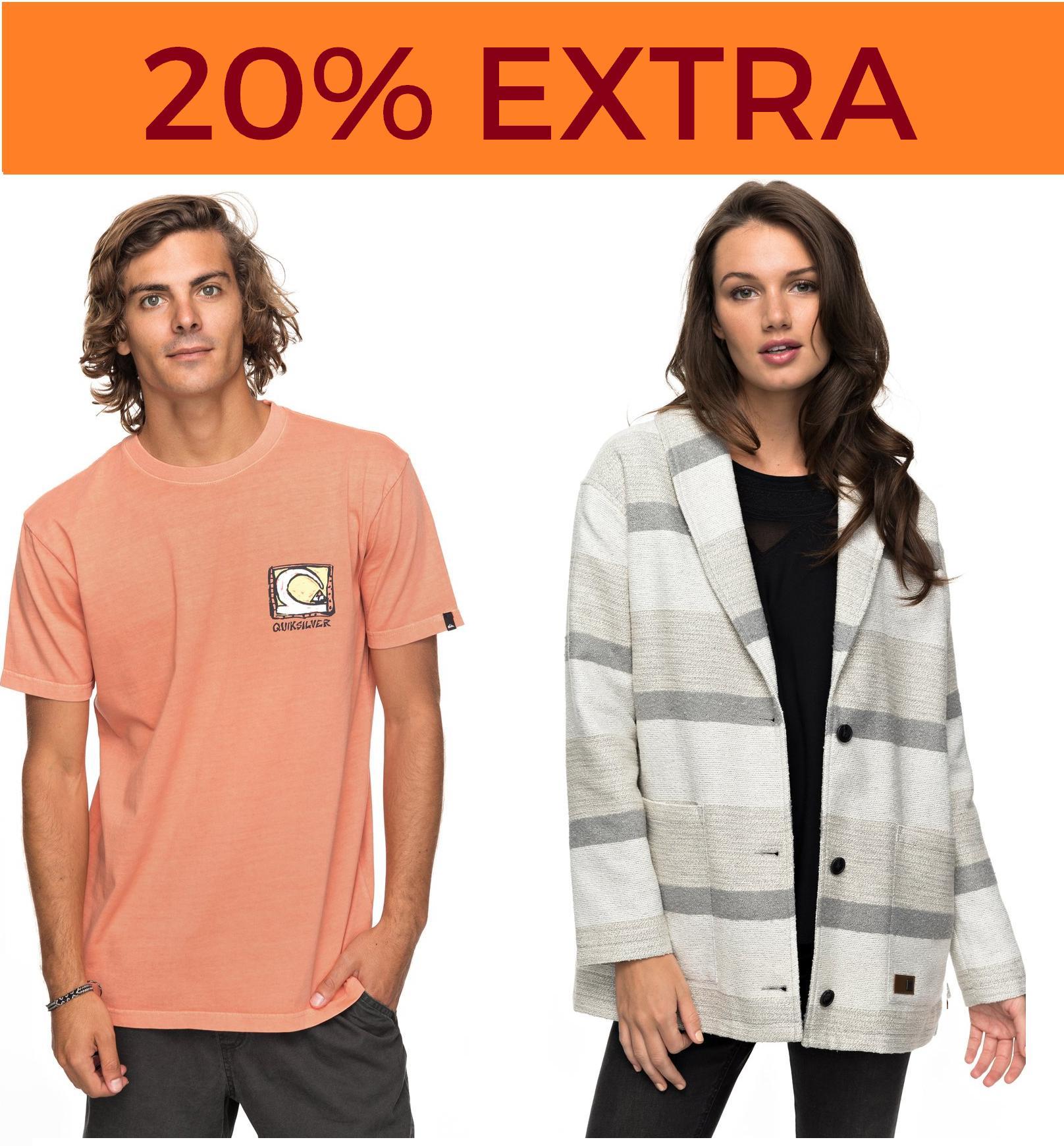 Hasta 40% + 20% EXTRA Quiksilver, Roxy y DC