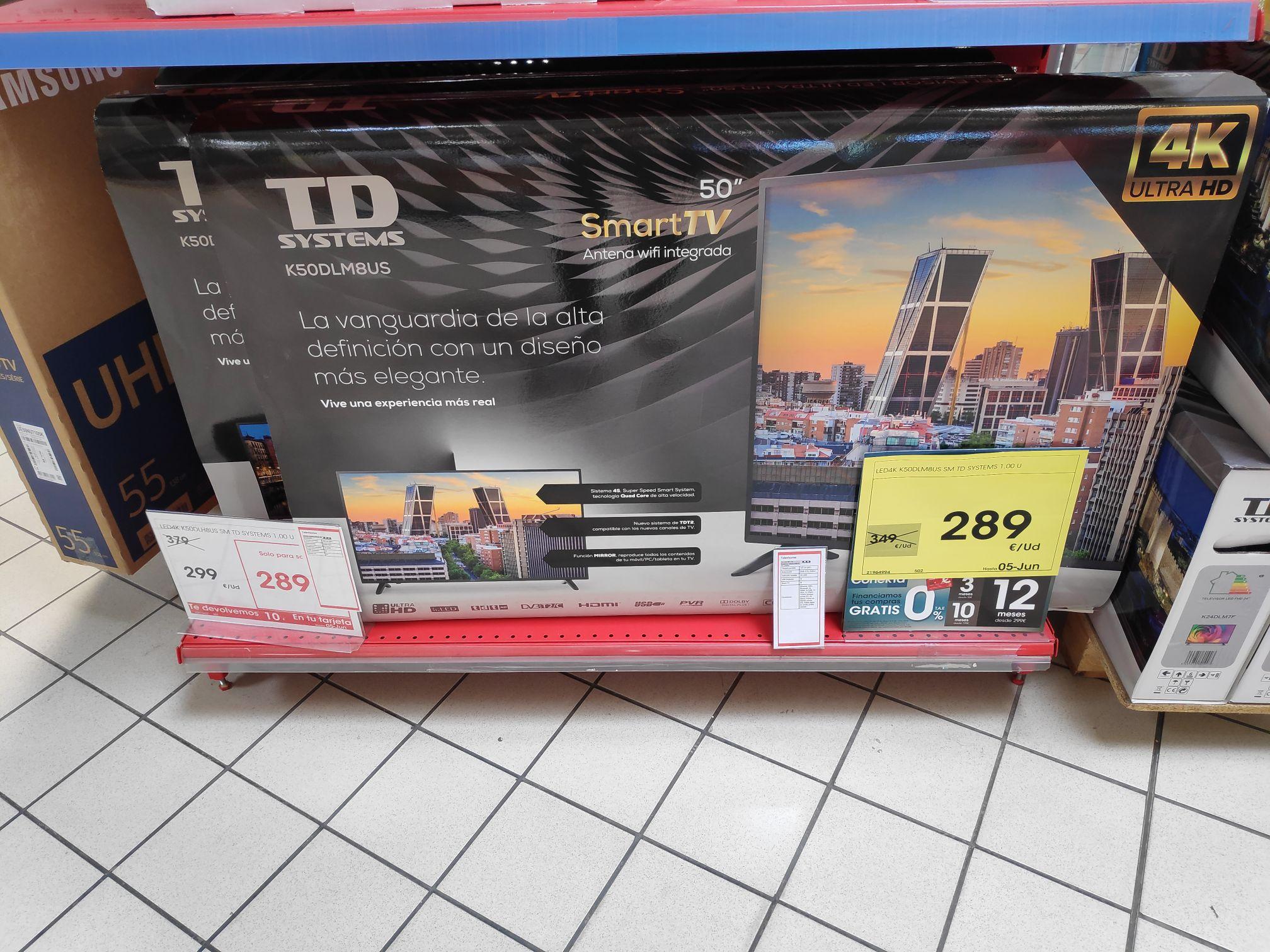 Televisión 50'' 4K UHD Smart TV (Eroski de Azuqueca de Henares)