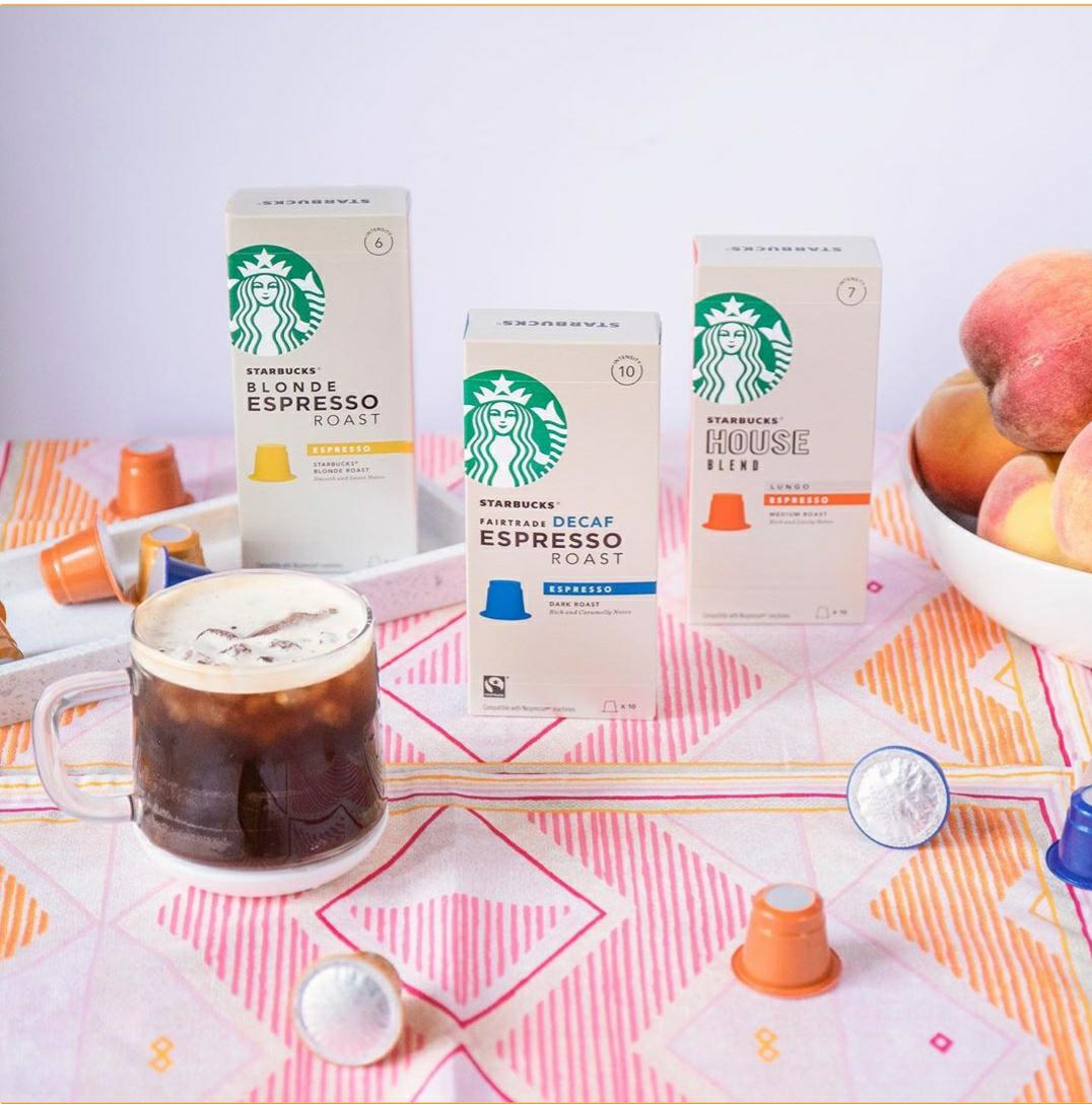 4x3 en cápsulas espresso Starbucks
