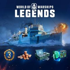 Gratis, el paquete  World of Warships: Leyendas (PlayStation Plus)