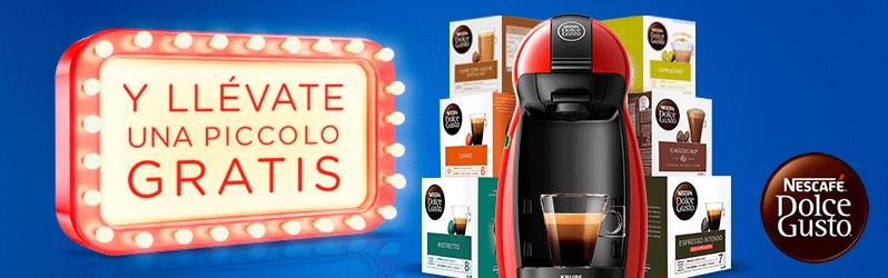 Cafetera Piccolo gratis con 12 cajas de Dolce Gusto