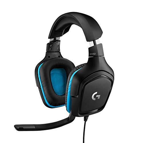 Logitech G432 - Auriculares con micrófono y Sonido Envolvente 7.1