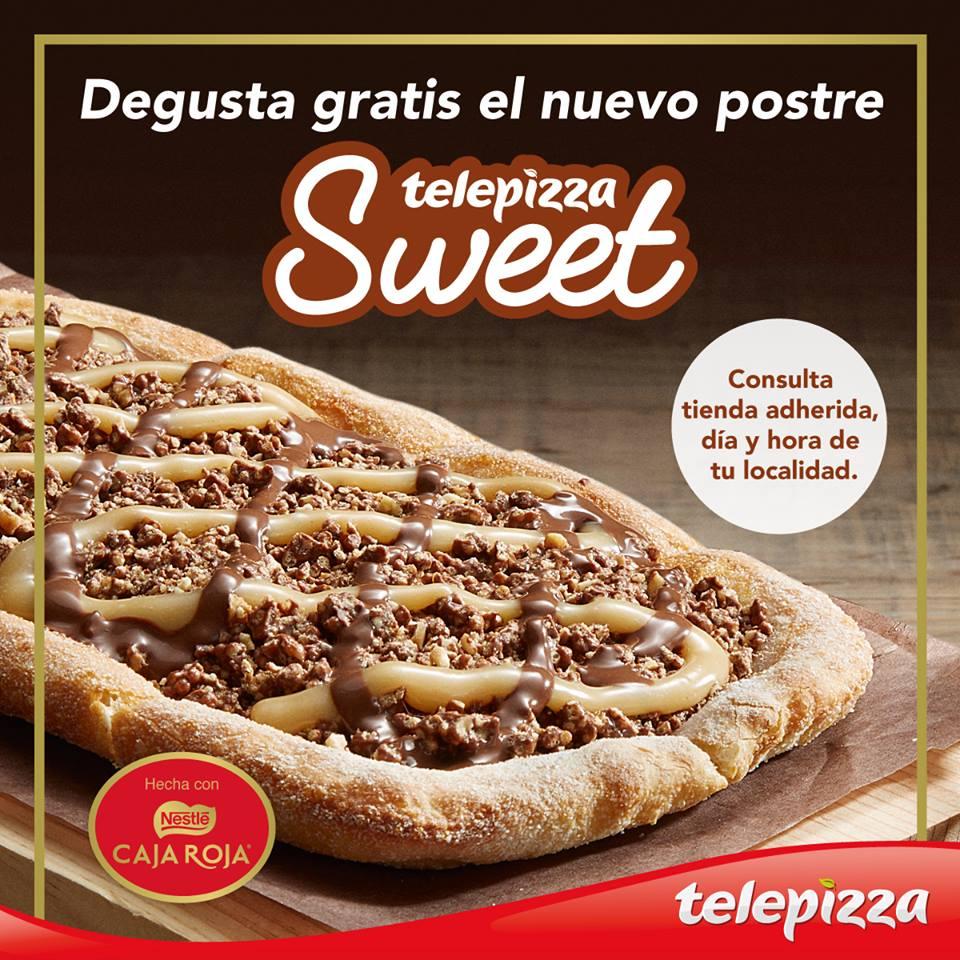 Degusta gratis la nueva Telepizza Sweet