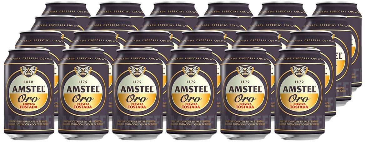 Amstel Oro Cerveza tostada - Caja de 24 Latas por 13 euritos