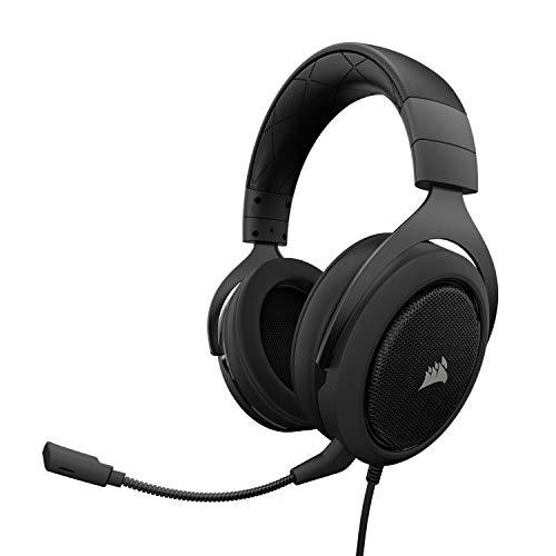 Corsair HS50 Stereo - Auriculares gaming con micrófono desmontable