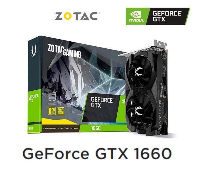 Zotac Gaming GeForce GTX 1660 Twin Fan 6GB / TDP 120w