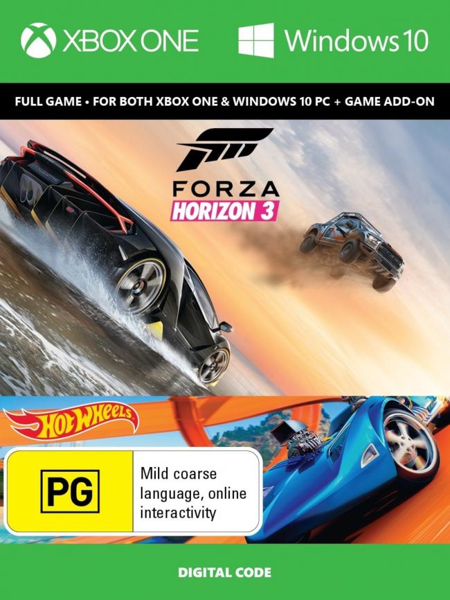 PC / XBOX ONE: Forza Horizon 3 + Hot Wheels Xbox One/PC Digital Code (AC UNITY DE REGALO)
