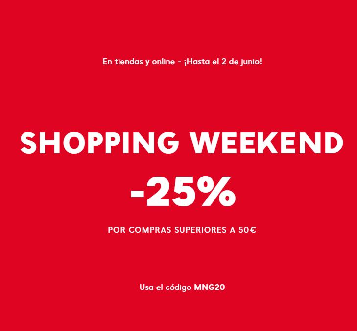 -25% por compras superiores a 50€ en MANGO