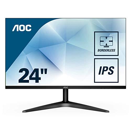 "AOC-Monitor IPS 24""  Full HD (IPS, Ultrafino, Flicker Free"