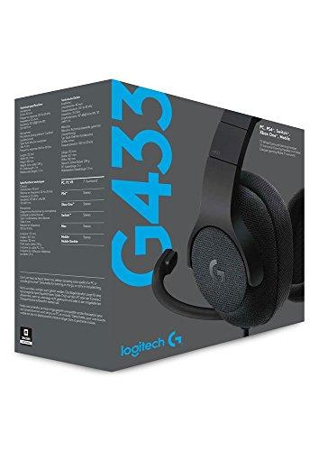 Logitech G433 - Auriculares con micrófono y Cable