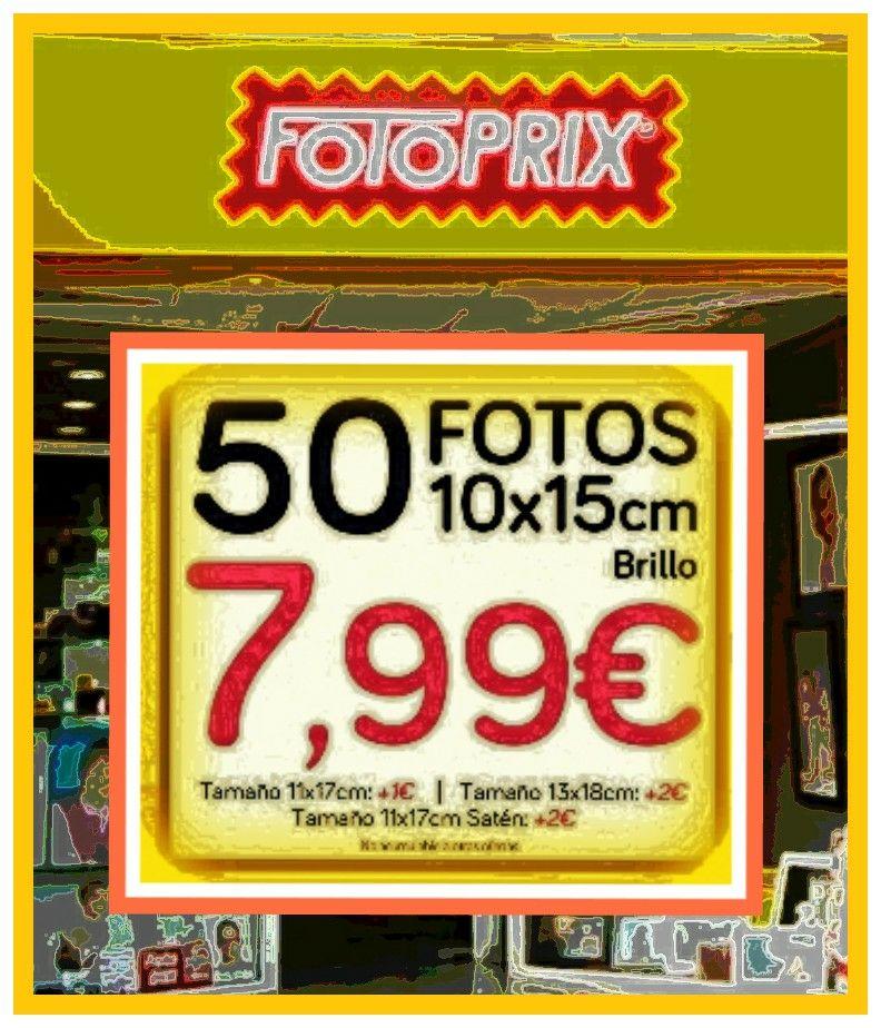 FOTOPRIX  varios CUPONES descuento...50 fotos reveladas por 7,99€ y mucho más..