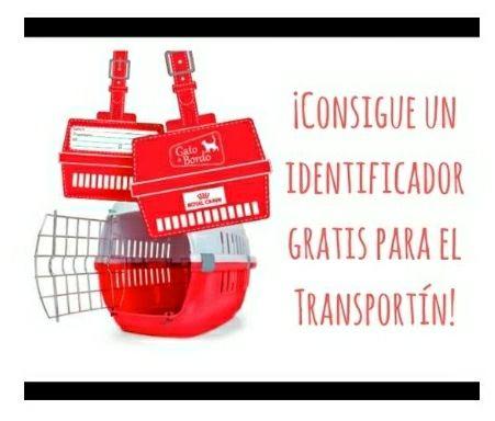 identificador GRATIS de tu mascota....para el TRAnsportin