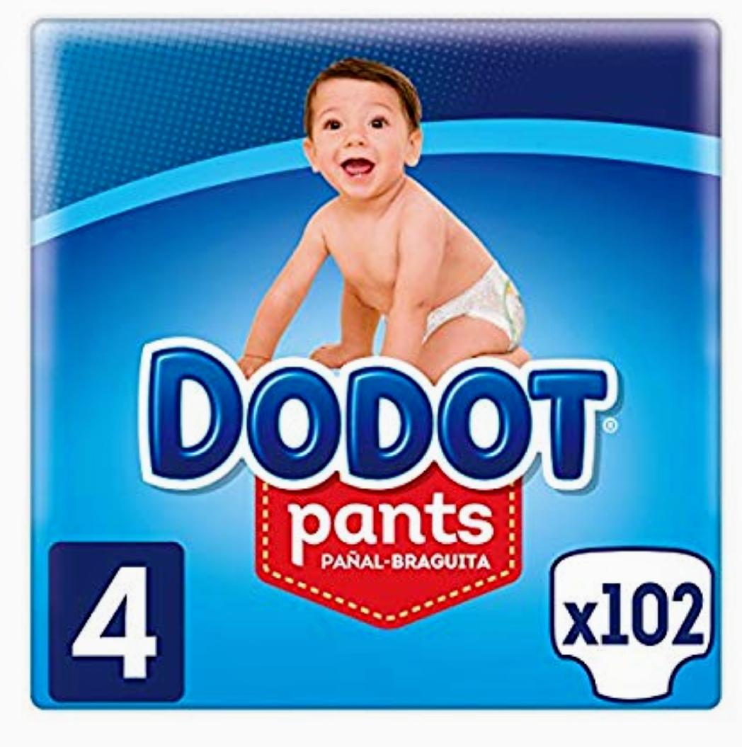 Dodot Pants - Pañal-Braguita Talla 4,( 9-15 kg), 3 x 34 Pañales - Total 102 Pañales