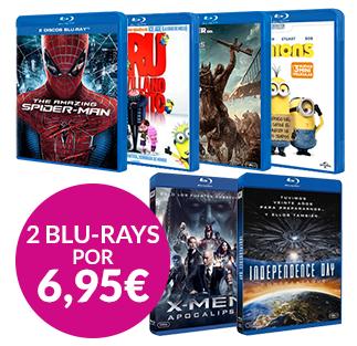 2 Películas Blu-ray por 6,95 euros