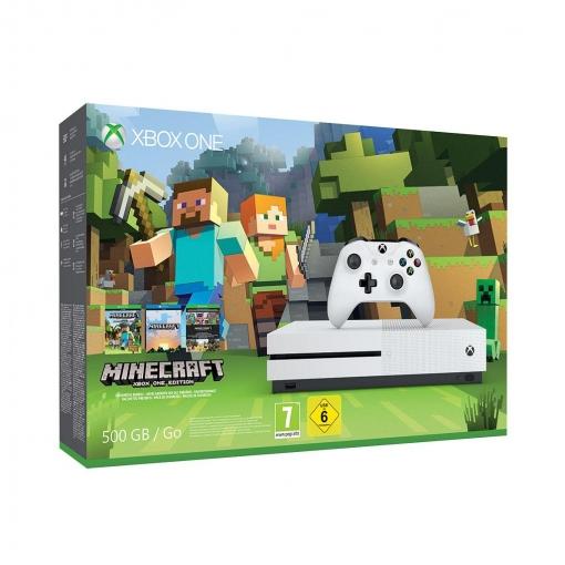 Xbox One S 500GB Blanca con Minecraft
