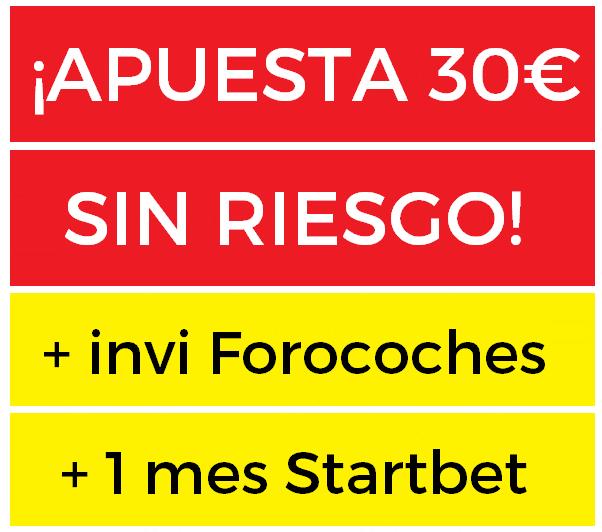 Apuesta 30€ SIN RIESGO a lo que quieras