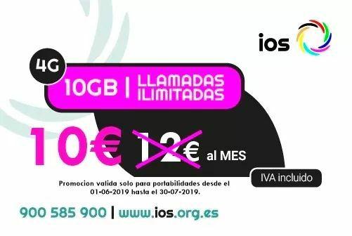 Tarifa Ios (orange) 10gb + llam. Ilimitadas  10€