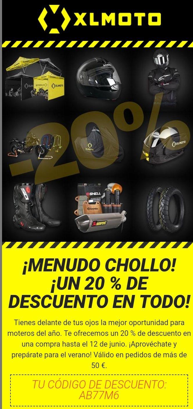 20 % DE DESCUENTO EN TODO  XL MOTO