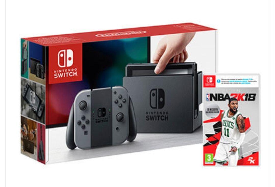 Nintendo Switch con NBA 2K18 a 271€// con Super Mario Odyssey a 296€