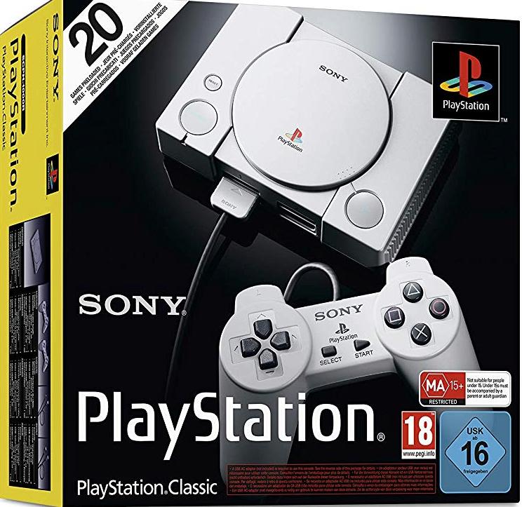 Sony PlayStation - Consola Classic + 2 mandos (Amazon y Corte Inglés)