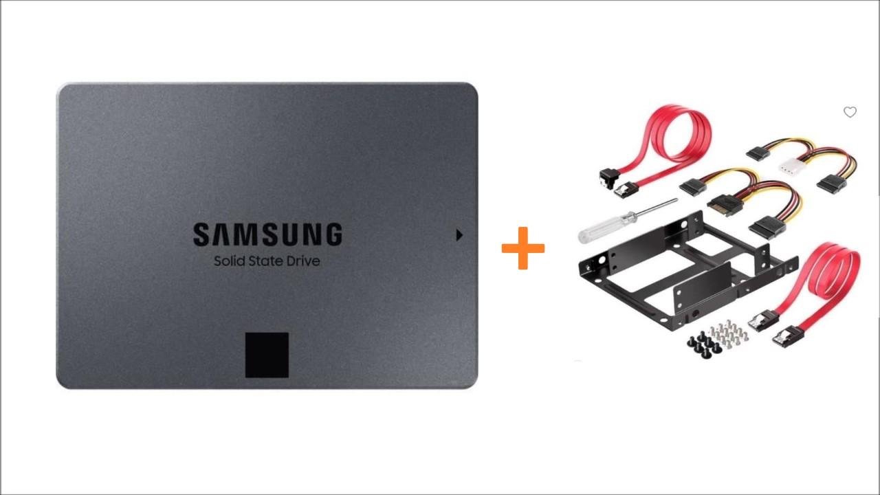 SAMSUNG SSD 860 QVO 1TB + kit montaje completo