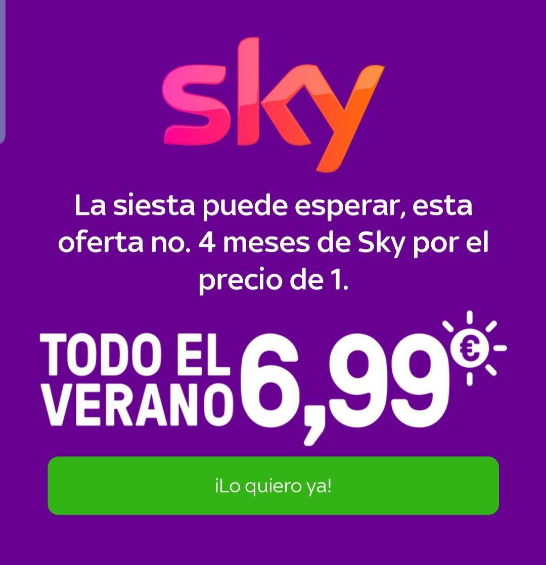 SKY 4 MESES POR EL PRECIO DE 1