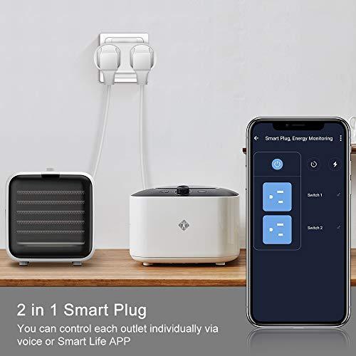 Enchufe Inteligente Wifi compatible con Google Assistant - Pack de 2 [Amazon.es]