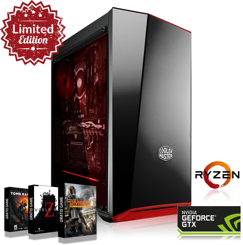 PC Ryzen 5 2600X,16GB 3000MHz,GTX 1070 8GB,240GB SSD + 1TB HDD,3 juegos GRATIS