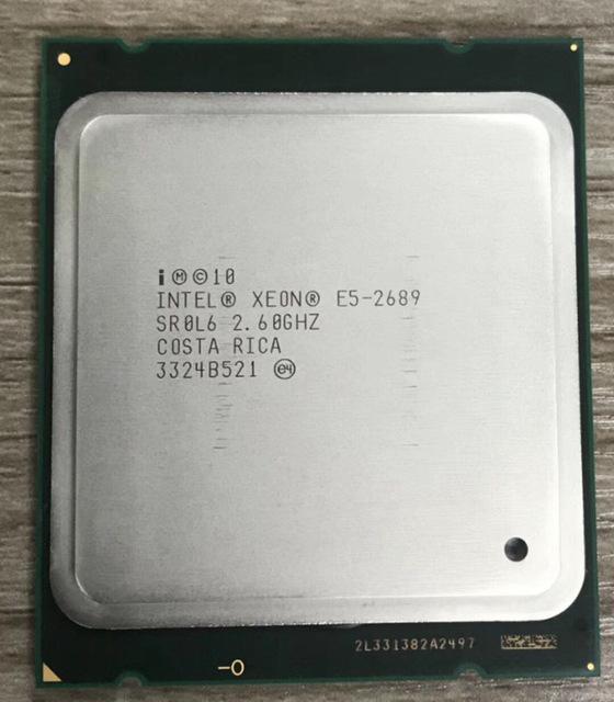 E5-2689: CPU 8 núcleos y 16 hilos a 3,6 ghz por menos de 50 € (usado)