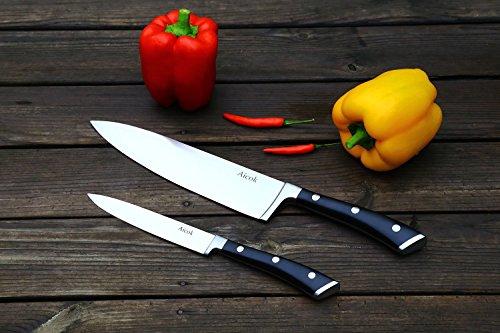 Juego de cuchillos Aicok en acero inoxidable por solo 5.5€