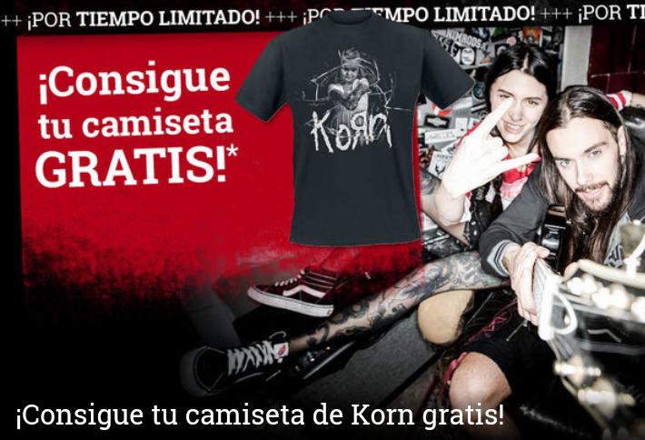 Camiseta de Korn gratis con tu pedido