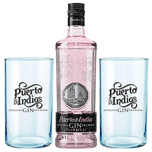 ¿Gintonics con estilo? Puerto de Indias Pink + 2 vasos