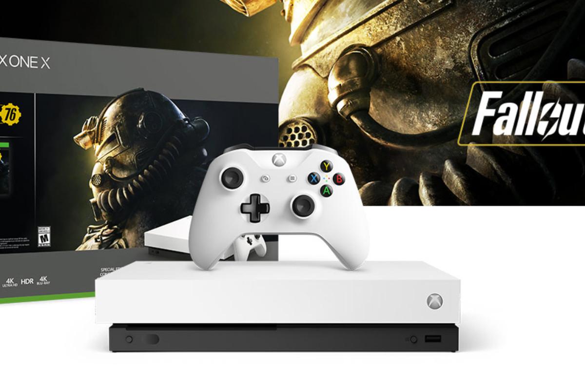 Xbox One X Robotwhite Spec.ed.+Fallout76 Reacondicionada