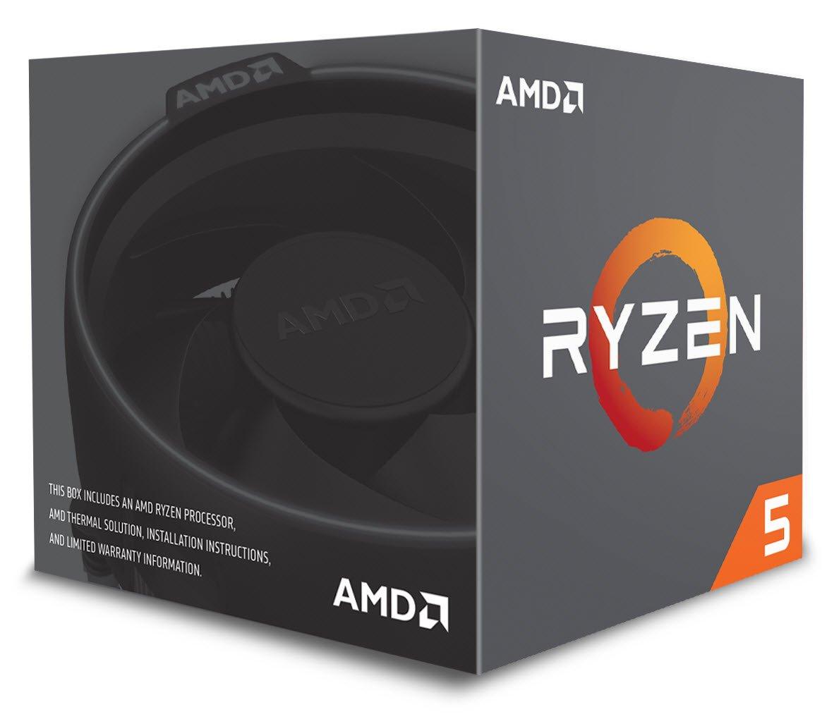 AMD Ryzen 5 2600X - Procesador con disipador de calor Wraith Spire (19 MB, 6 núcleos, velocidad de 4.25 GhZ, 95 W)