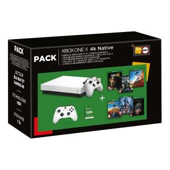 MegaPack Consola Microsoft Xbox One X 1 Tb + 2º mando+ 6 juegos + 3 meses Gold