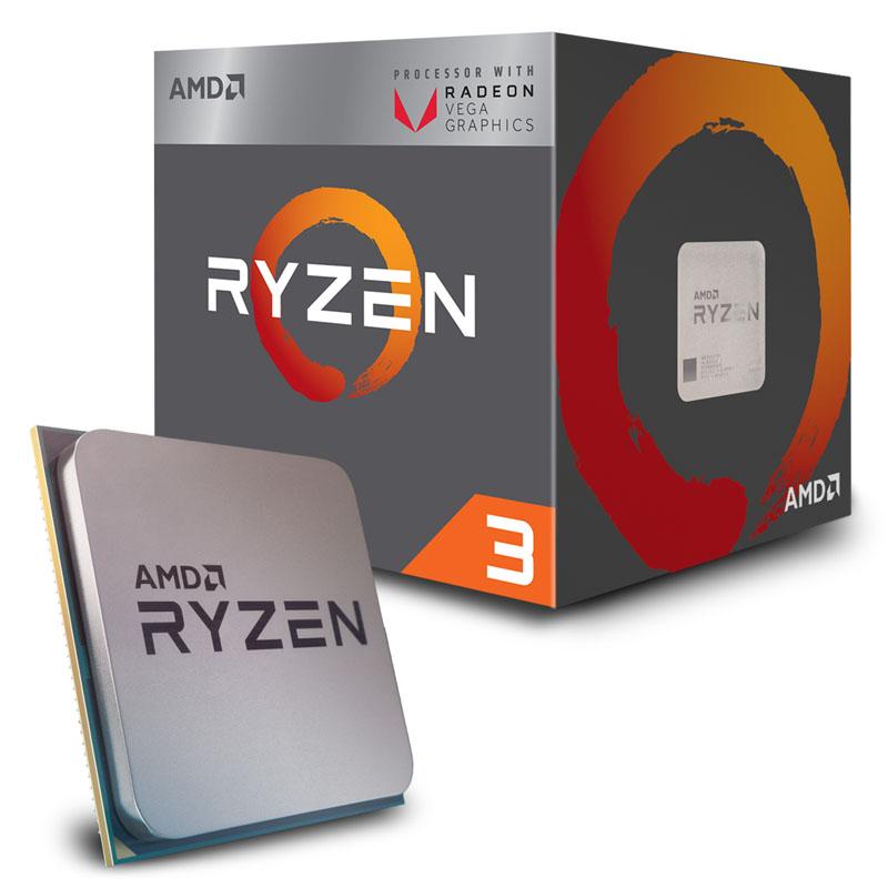 AMD Ryzen 3 2200G 3.7GHz Socket AM4 Boxed (Gráfica Vega 8)