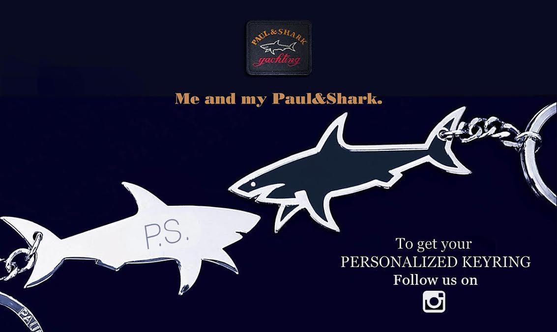 Llavero Paul&Shark con iniciales gratuito