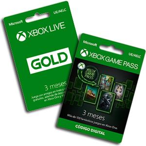 3 meses Xbox Live +3 game pass 16.9€