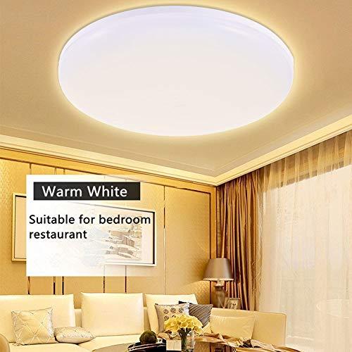 Luz de techo LED 3000K blanco cálido, 24W, 15cm