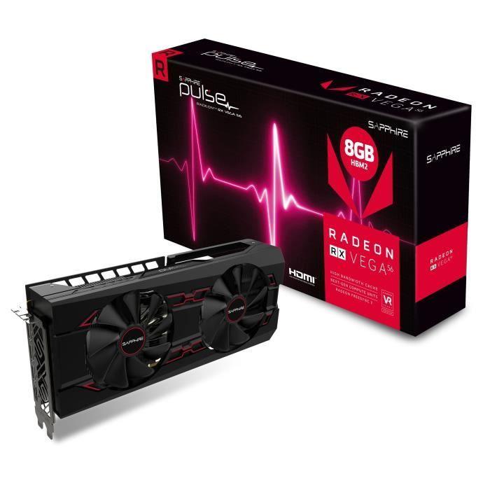 Gráfica Sapphire Radeon RX Vega 56 por 253€