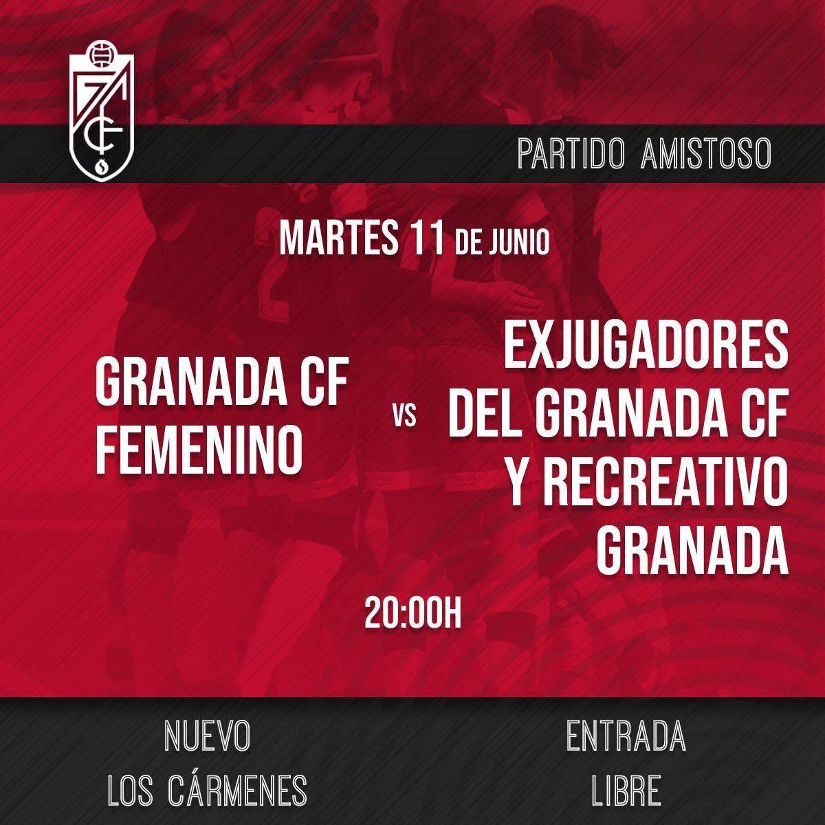 Partido de fútbol Granada CF Femenino vs Exjugadores del Granada CF y Recreativo Granada (Entrada gratis)