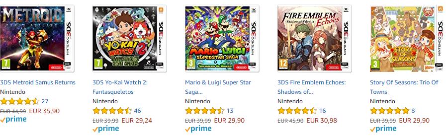 Juegos Nintendo 3DS  3x2