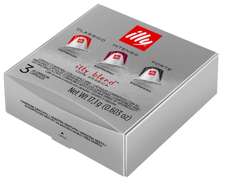 Kit de 3 cápsulas Illy 100% Arábica compatible con cafeteras Nespresso (GRATIS)