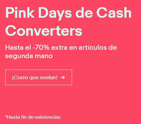 Pink days en eBay: hasta un 70% de descuento en artículos usados de Cash Converters