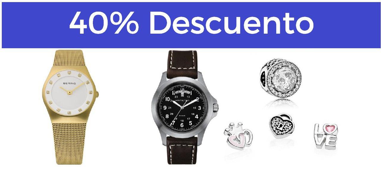 40% en relojes y joyas ya rebajados!