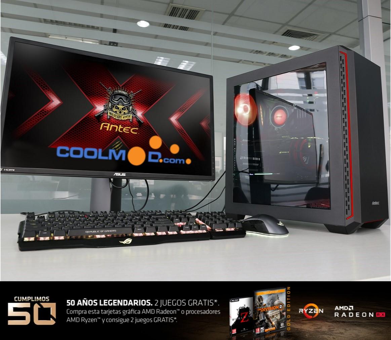 CoolPC Gamer IV - Ryzen 5 2600 / 16GB DDR4 / SSD 480 / RX 580 [Gratis 2 Juegos]